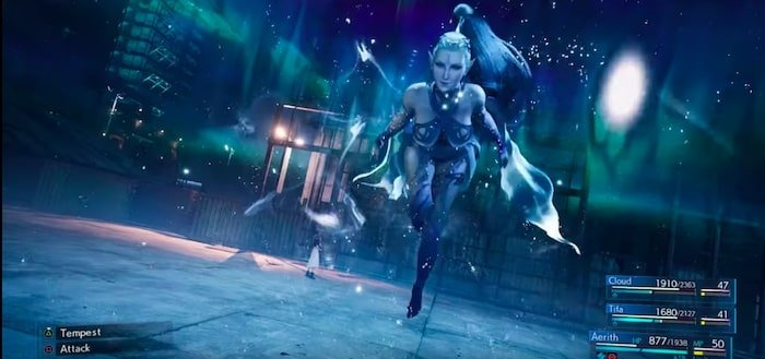 final fantasy vii membuat ulang summon shiva