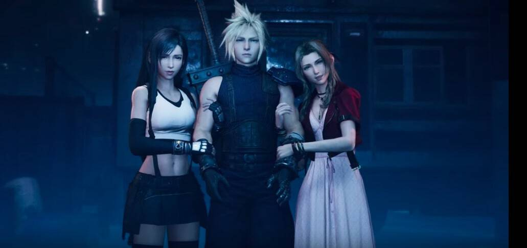 final fantasy vii membuat ulang tifa cloud aerith