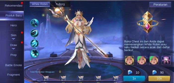 mobile legends bang bang skin kadita white robin produk terbaru