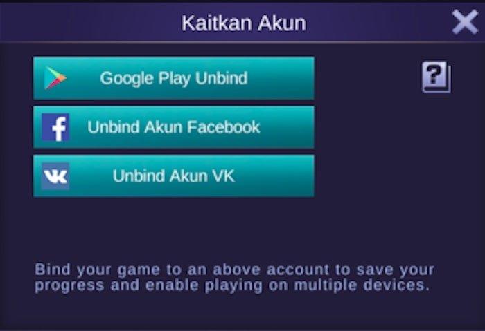 mobile legends bang bang unbind account