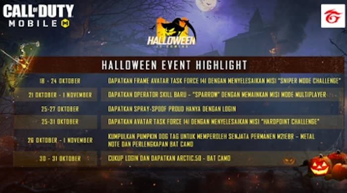 garena call of duty mobile event halloween highlight