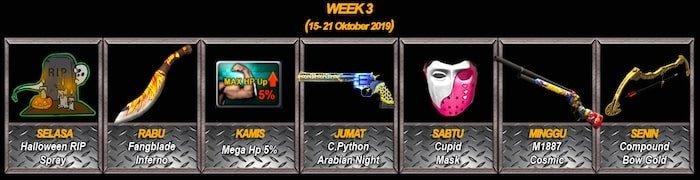 point blank zepetto event oktober 2019 attendance week 3