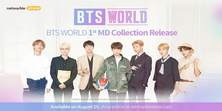 bts world merchandise released netmarble online store