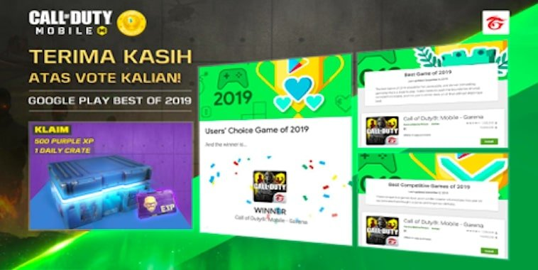 call of duty mobile garena google play users choice game of 2019