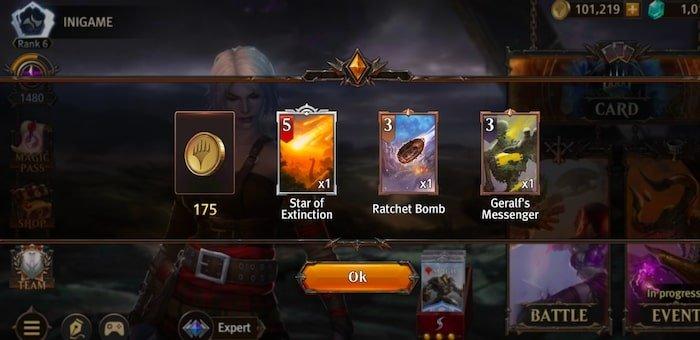 magic manastrike after battle rewards