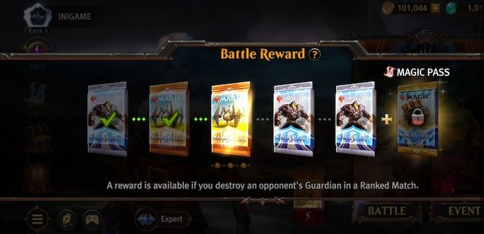 magic manastrike battle rewards