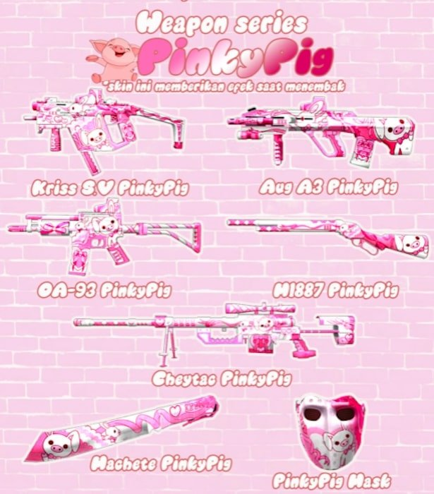 point blank zepetto weapon series pinkypig