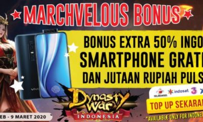 dynasty war achiko event top up maret 2020