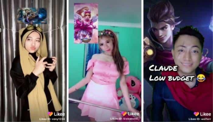 mobile legends bang bang likee cosplay participant