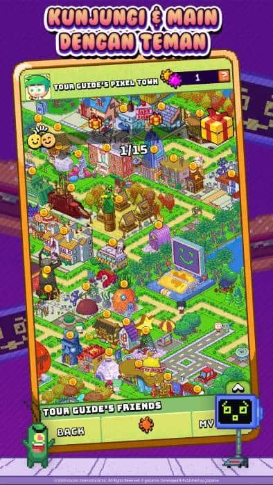 kunjungi kota nickelodeon pixel dan bermain dengan teman-teman