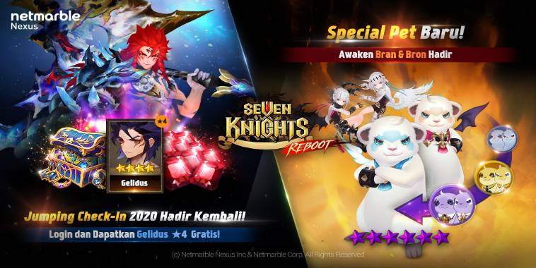 Seven Knights Rilis Update Awaken Pet Bran & Bron dan Hero Gelidus
