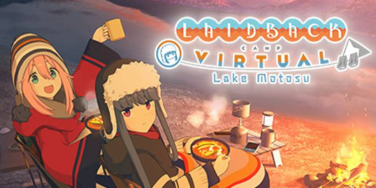 Laid-Back Camp - Virtual - Lake Motosu (Yuru Camp) Logo